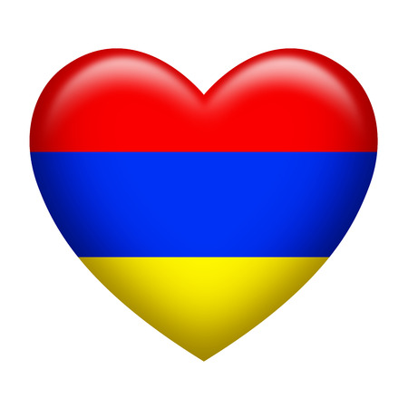 armenian: Heart shape of Armenian insignia isolated on white