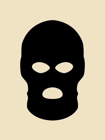 Symbol of a bandit or terrorist mask