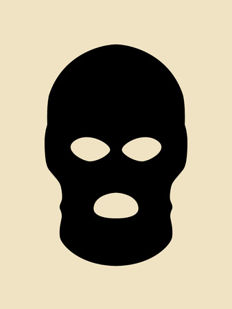 Symbol of a bandit or terrorist mask