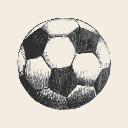 soccer: Sketch illustration of a soccer ball