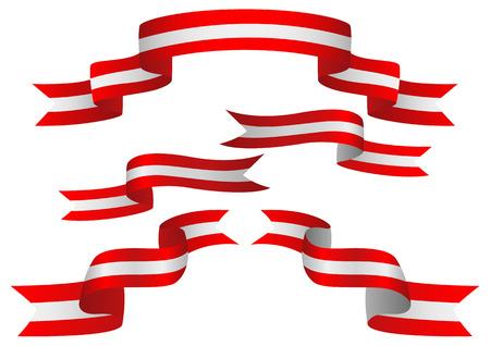 insignias: Conjunto de insignias de Austria en distinta forma de cintas