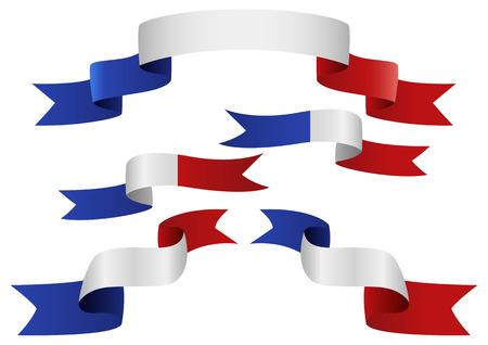 insignias: Conjunto de Francia insignias en forma diferente de cintas