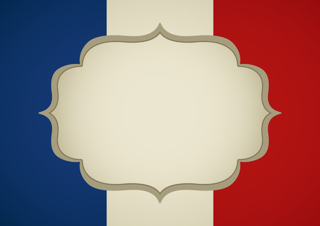 french: Blank frame on French insignia for book cover or background template