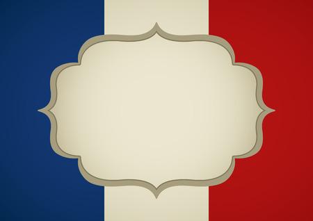 insignia: Marco en blanco en la insignia francesa para la portada del libro o plantilla de fondo Vectores