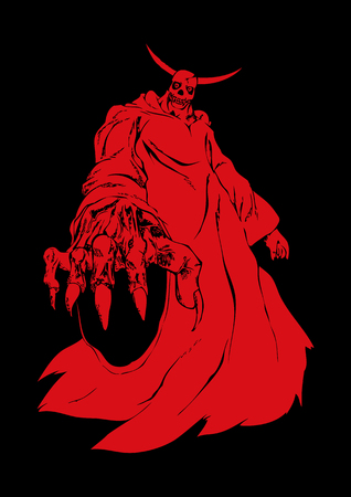 Illustration of a demon or devil figure