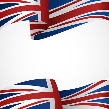 bandera inglesa: Decoración del Reino Unido insignia en blanco