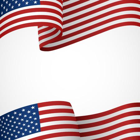 Versiering van de Verenigde Staten van Amerika insigne op wit Stock Illustratie