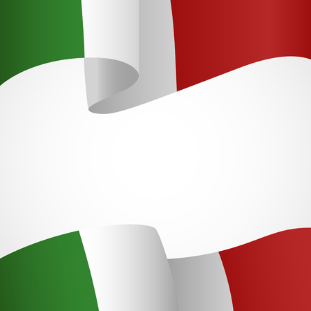 italian: Decoration of Italian insignia on white