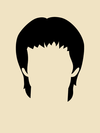 famous actor: Simple graphic of a hairstyle for man Illustration