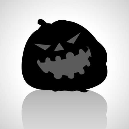 hollows: Simple graphic of jack o lantern on black background