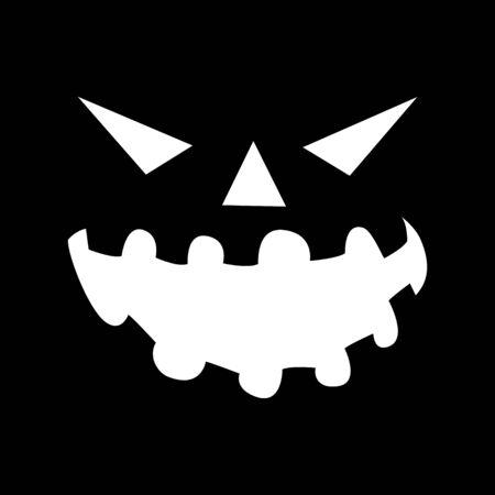 jack o lantern: Simple graphic of jack o lantern on black background
