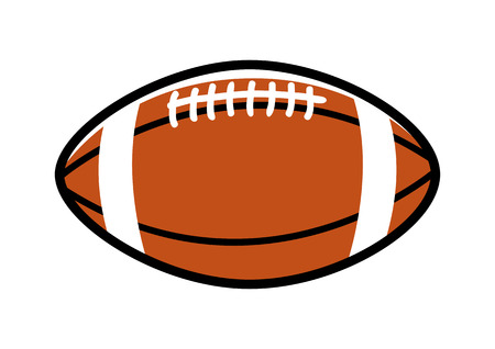 team game: Simple graphic of a rugby ball Illustration