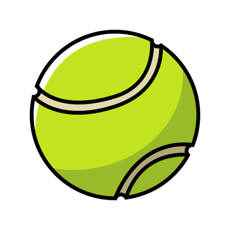 sign simplicity: Simple illustration of a tennis ball Illustration