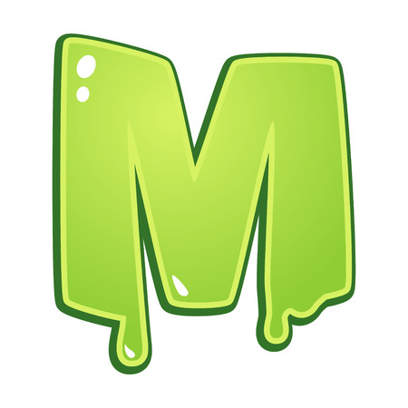 slimy: Slimy font type letter M
