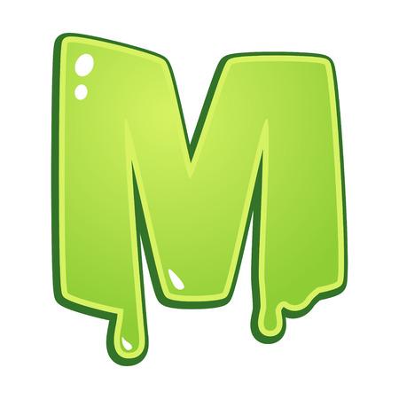 slimy: Slimy font type letter M
