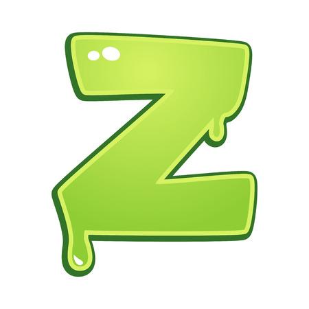 Slimy font type letter Z Illustration