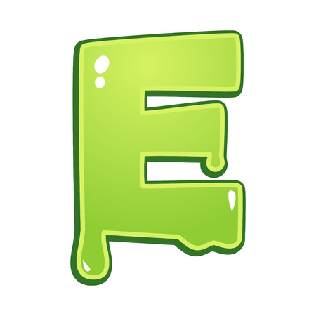 slimy: Slimy font type letter E