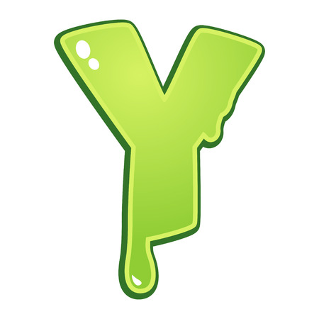 slimy: Slimy font type letter Y
