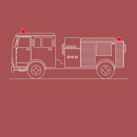 firetruck: Line art of a fire truck