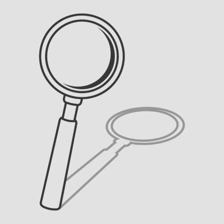 detect: Simple line art of a magnifying glass