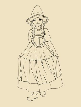 dutch culture: Dutch lady in traditional costume