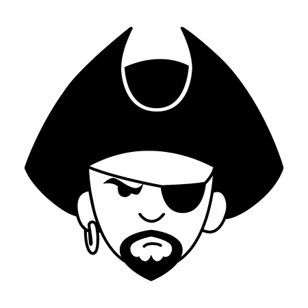 kiddies: Face avatar of a pirate