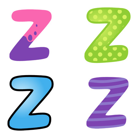 kiddies: Colorful cartoon font type letter Z