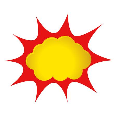 Stock illustration of a comic explosion or splash
