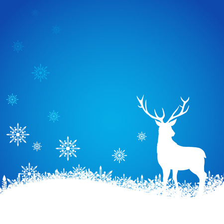 Blank template for cover, background or card design with Christmas theme