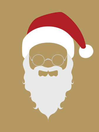 Symbol of Santa Claus face Illustration