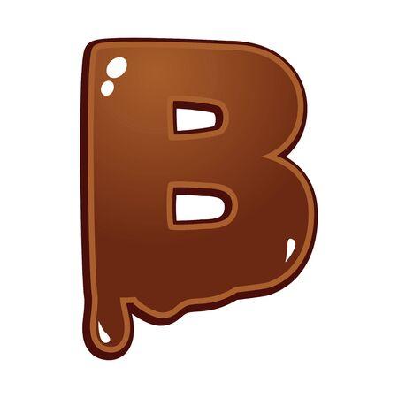 chocolate melt: Cioccolato fuso tipo di font lettera B