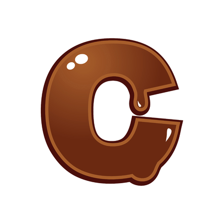chocolate melt: Chocolate melt font type letter C