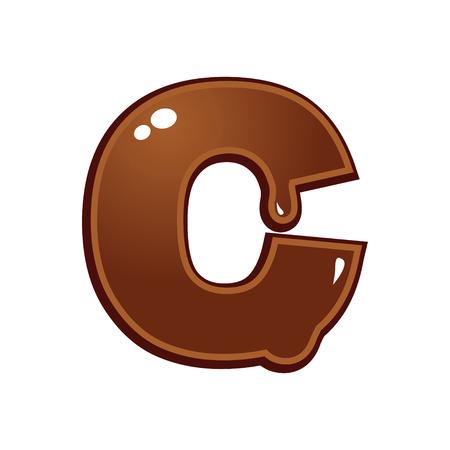 chocolate melt: Cioccolato fuso tipo di font lettera C
