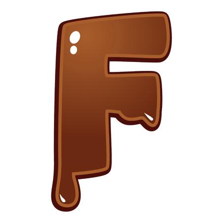chocolate melt: Cioccolato fuso tipo di font lettera F