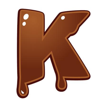 chocolate melt: Cioccolato fuso tipo di font lettera K
