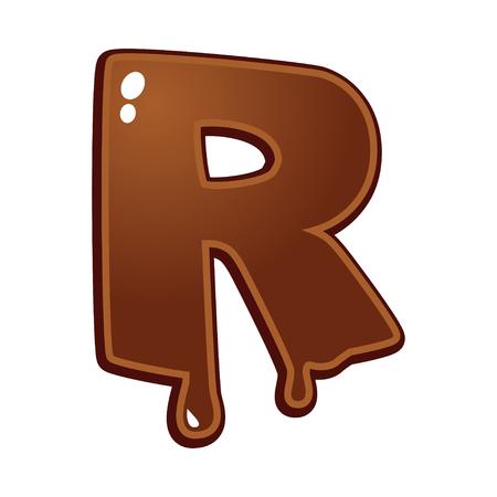 chocolate melt: Chocolate melt font type letter R