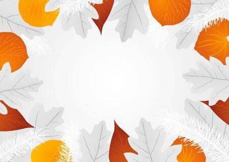 x mas background: Decorative leaves background