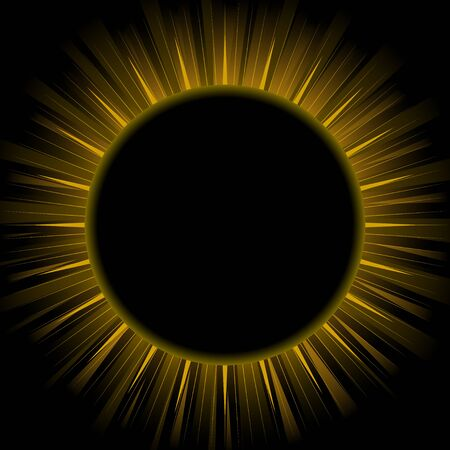 eclipse: Illustration of eclipse isolated on black background