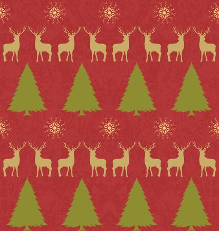 Decorative ornament for Christmas, Christmas background, seamless pattern for wrapping paper Illustration