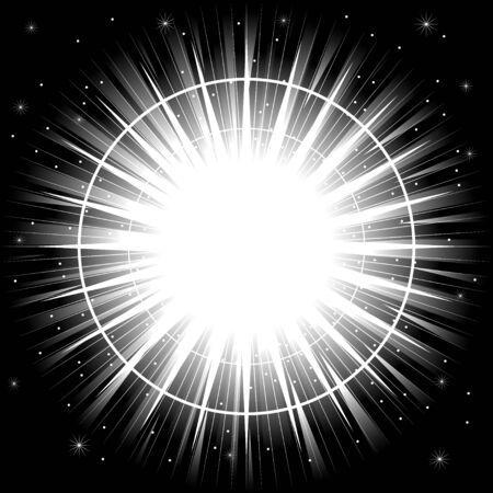 sunshine: Bright light or explosion on black background