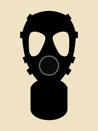 hazard: Simple graphic of gas mask