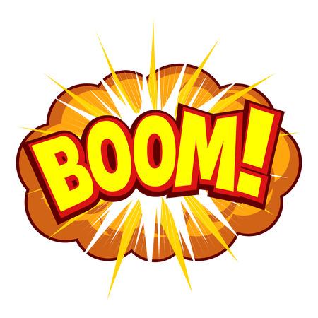 Afbeelding van een komische explosie