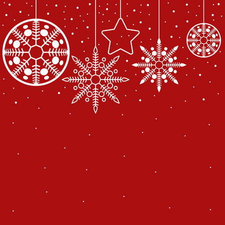 decor: Simple graphic for Christmas decoration, ornament for Christmas background and theme