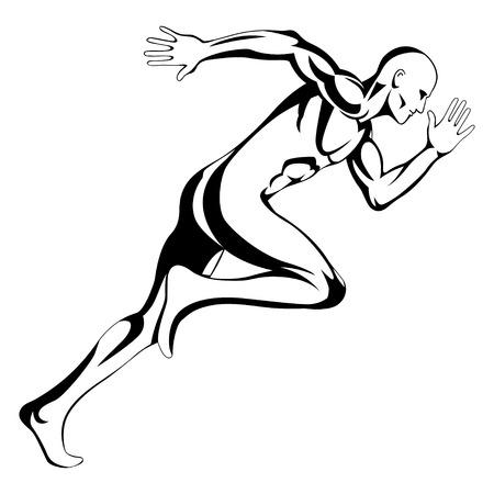 Illustration of a man figure running
