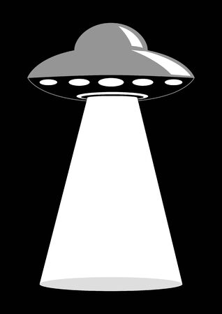 unidentified: Simple graphic of unidentified flying object, UFO Illustration