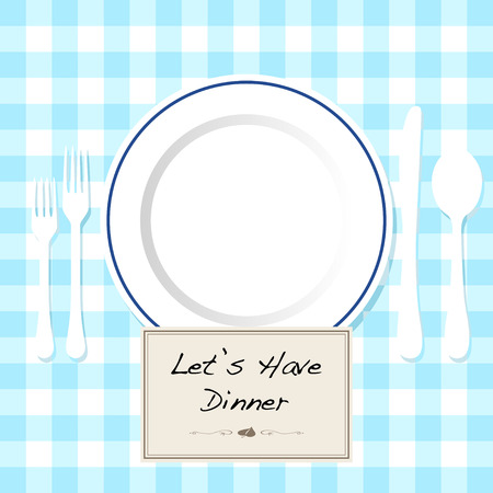 dinner date: Dinner invitation Illustration