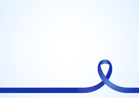 Blue ribbon for awareness, background template with copy space for cover, page or advertisement design lay out Illustration
