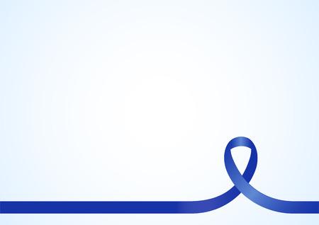Blauw lint voor voorlichting, achtergrond sjabloon met een kopie ruimte voor dekking, pagina of advertentie ontwerp lay-out Stock Illustratie