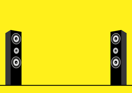 sound system: Vector illustration of speakers, sound system, music, stereo, home theater theme Illustration