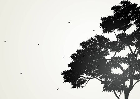 black tree: Silhouette illustration of a tree